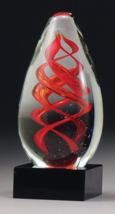 Art Series Red Helix Crystal NSW