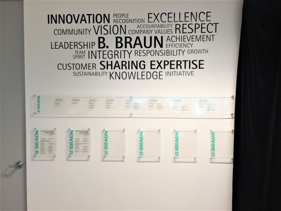 B Braun Wall of Fame Honour Boards NSW