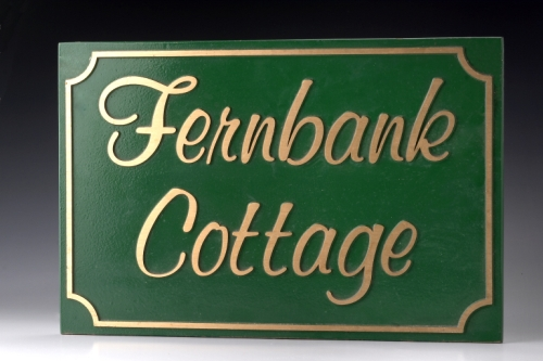House Plaque Cast Signage - Bronze & Aluminium NSW
