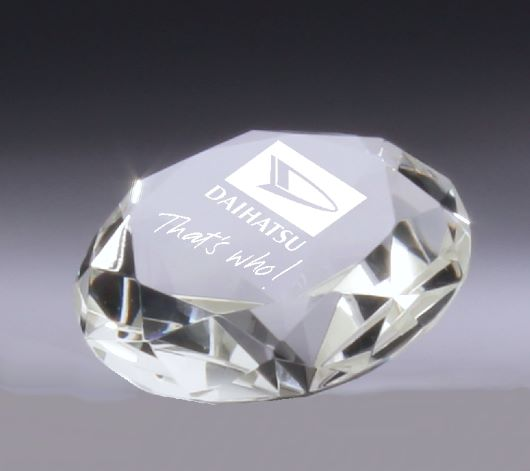 Crystal Diamond Paperweight Crystal NSW
