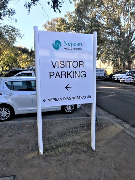 Nepean Private Parking General Signage NSW