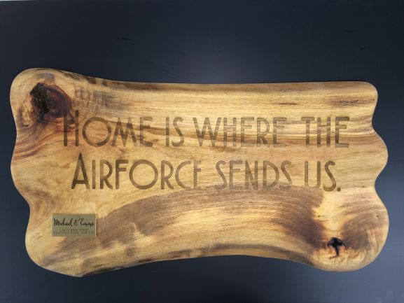 Wood Home is where Laser Engraved NSW