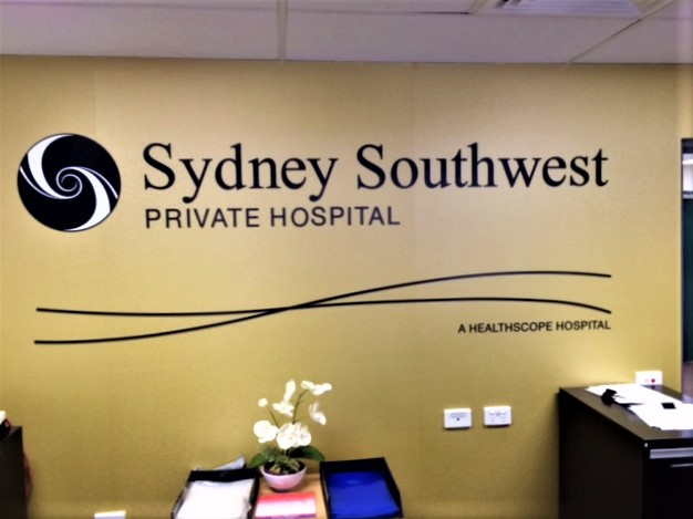 SSW Private Hospital Reception Signage NSW