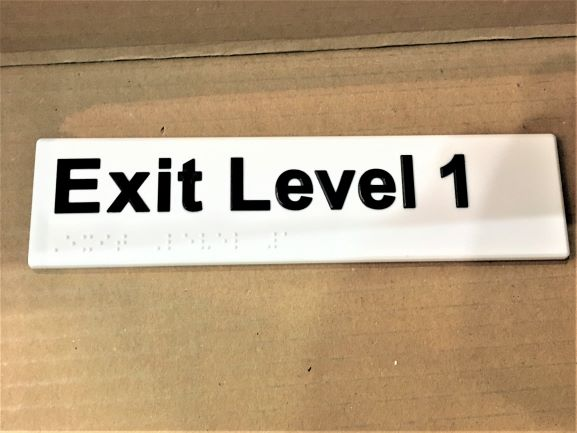 Exit Level Acrylic Braille NSW