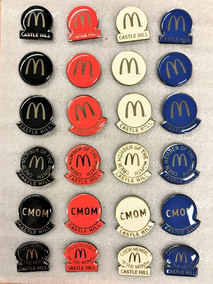 McDonalds Lapel Pins Lapel Pins NSW