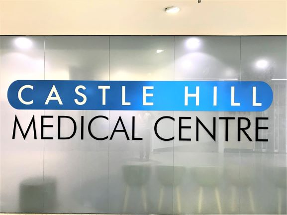 Castle Hill Medical Centre Laser Cut Letters & Shapes NSW