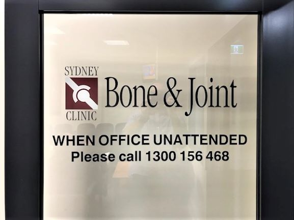 Bone and Joint frosted General Signage NSW