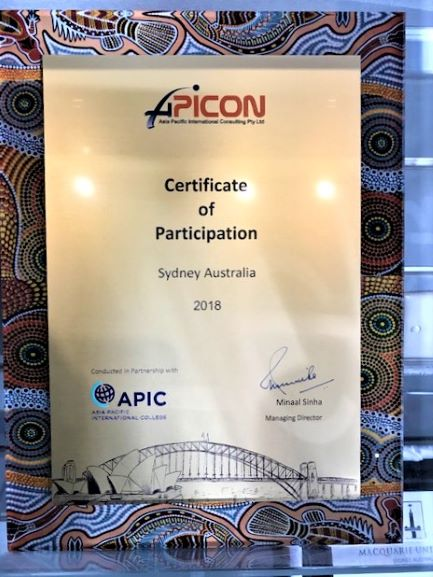APICON Plaque Wall + Desktop NSW