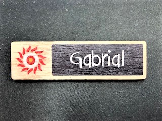 Oporto Wood Badge Engraved + Printed NSW