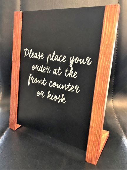 Counter Chalkboard Custom Signage and Display NSW