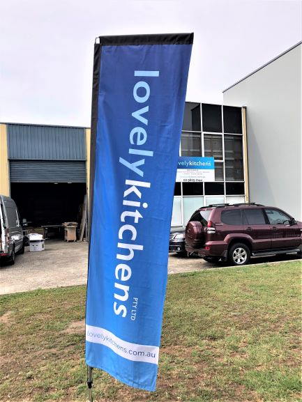 Lovely Kitchens Flag Banners, A- and T-Frames NSW