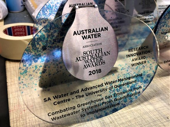 Water Award Custom Desktop and Plaques NSW