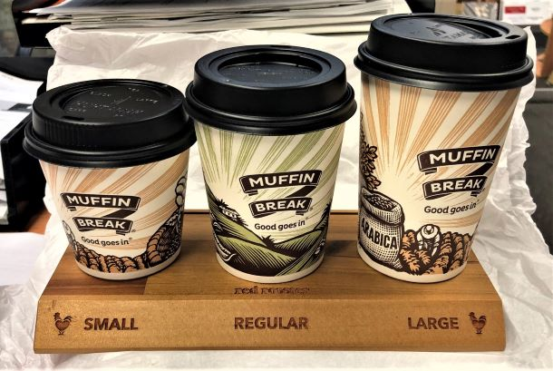 Cup counter display Custom Signage and Display NSW