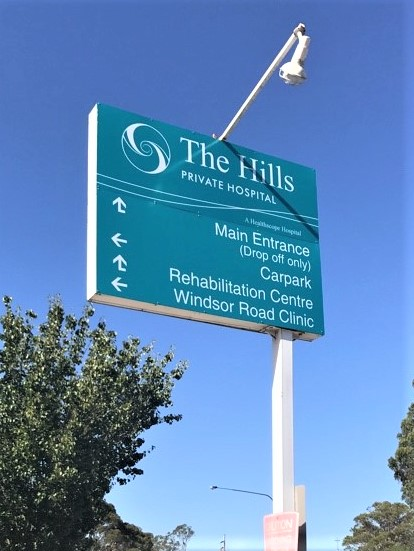 Hills Private Pylon (update only) General Signage NSW