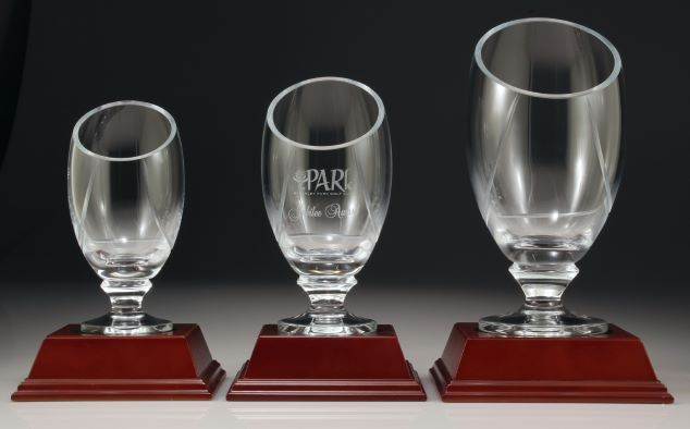 Glass Trophy Vase (optional base) Cups, Vases and Ice Buckets NSW