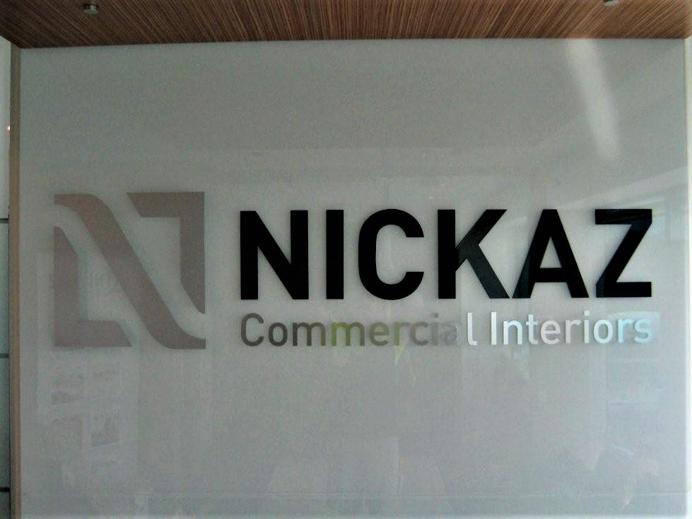 NICKAZ - Glass Reception Sign Reception Signage NSW
