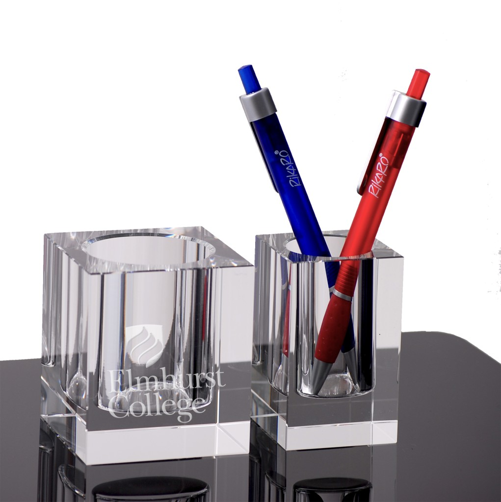 Crystal Pen Holder Office & Desktop Signage NSW