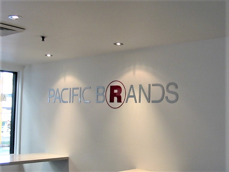 Pacific Brands Reception Signage NSW
