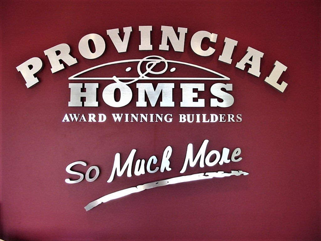 Provincial Homes Reception Signage NSW