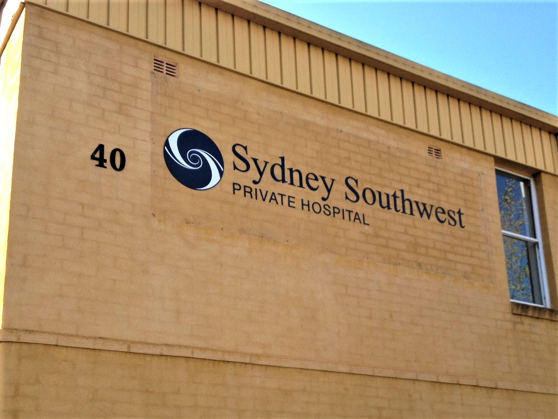 SSW Private Hospital Laser Cut Letters + Logos NSW