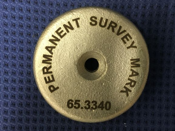 Survey Mark Laser Engraved NSW