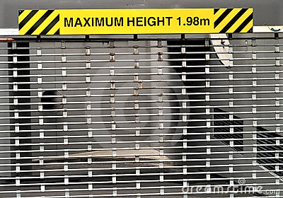 Height Bars Safety Signage NSW